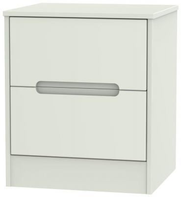 Monaco Kaschmir Matt 2 Drawer Bedside Cabinet