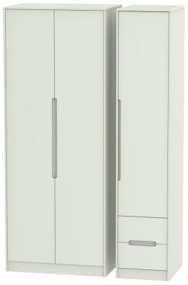 Monaco Kaschmir Matt 3 Door 2 Right Drawer Tall Wardrobe