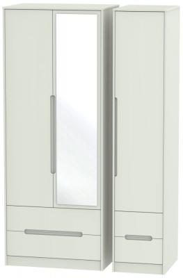 Monaco Kaschmir Matt 3 Door 4 Drawer Tall Combi Wardrobe