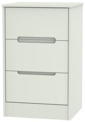 Monaco Kaschmir Matt 3 Drawer Bedside Cabinet