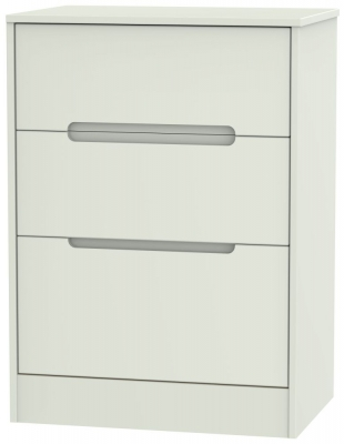 Monaco Kaschmir Matt 3 Drawer Deep Midi Chest