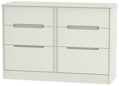 Monaco Kaschmir Matt 6 Drawer Midi Chest