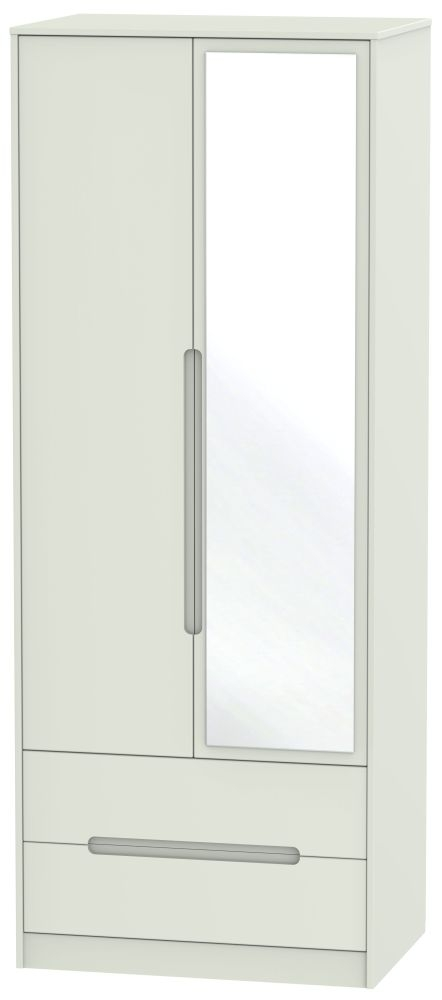 Monaco Kaschmir Matt 2 Door Tall Combi Wardrobe