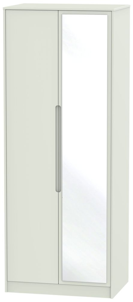 Monaco Kaschmir Matt 2 Door Tall Mirror Wardrobe