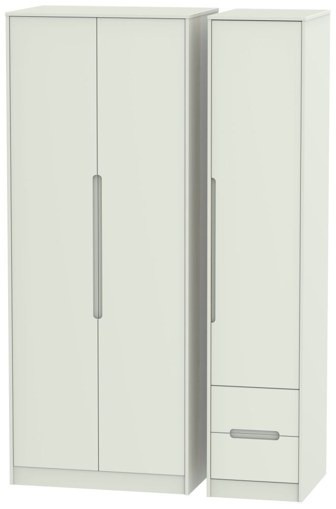 Monaco Kaschmir Matt 3 Door 2 Right Drawer Tall Wardrobe