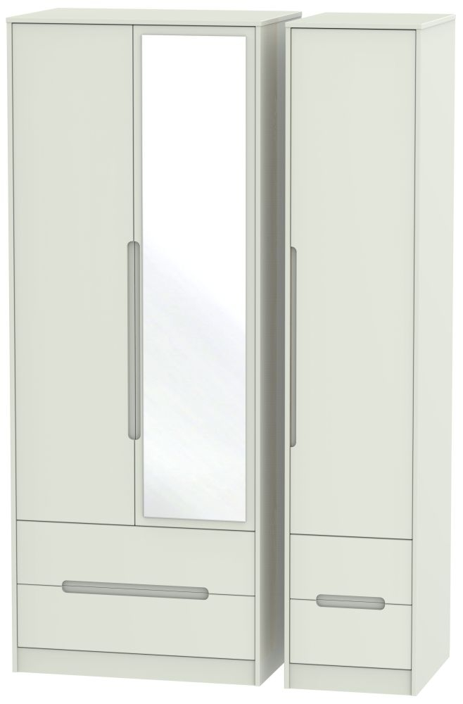 Monaco Kaschmir Matt 3 Door 4 Drawer Tall Combi Wardrobe