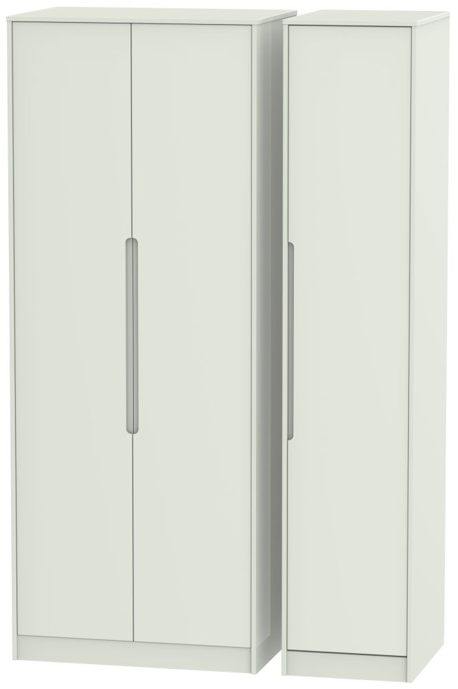 Monaco Kaschmir Matt 3 Door Tall Wardrobe