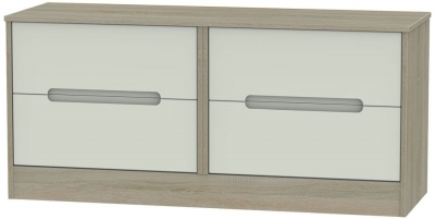 Monaco Kaschmir and Darkolino Bed Box - 4 Drawer