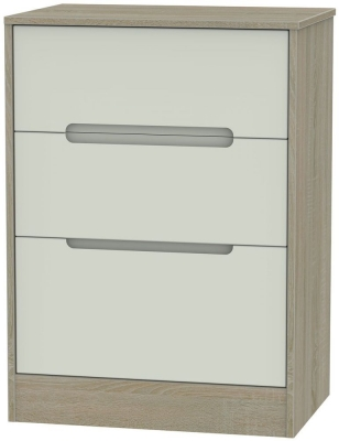 Monaco Kaschmir and Darkolino Chest of Drawer - 3 Drawer Deep Midi