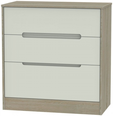 Monaco 3 Drawer Deep Chest - Kaschmir and Darkolino
