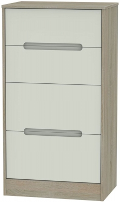 Monaco Kaschmir and Darkolino Chest of Drawer - 4 Drawer Deep Midi