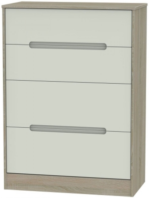 Monaco Kaschmir and Darkolino Chest of Drawer - 4 Drawer Deep