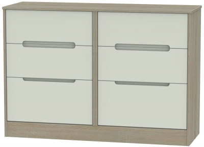 Monaco Kaschmir and Darkolino Chest of Drawer - 6 Drawer Midi