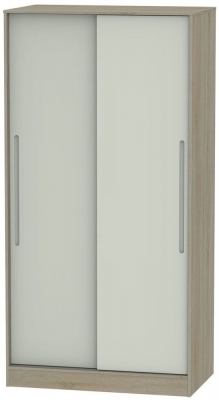 Monaco 2 Door Sliding Wardrobe - Kaschmir and Darkolino