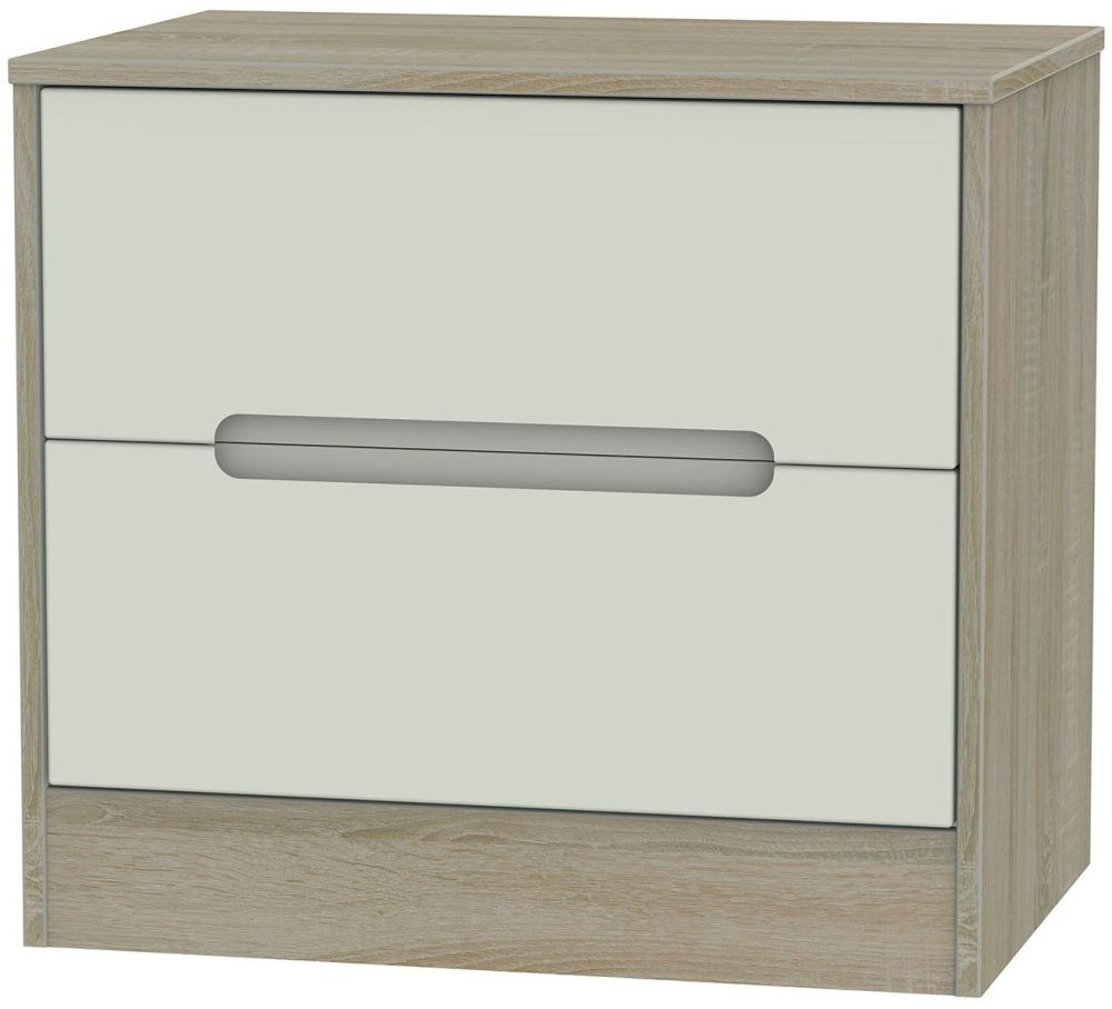 Monaco 2 Drawer Midi Chest - Kaschmir and Darkolino