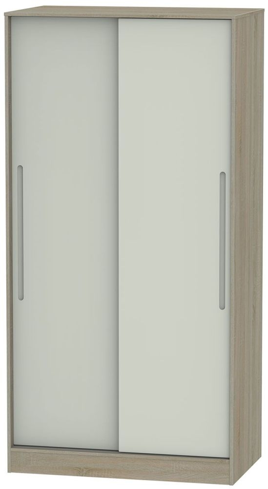 Monaco Kaschmir and Darkolino Sliding Wardrobe - Wide