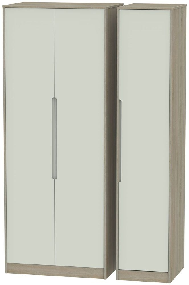 Monaco Kaschmir and Darkolino Triple Wardrobe - Tall Plain