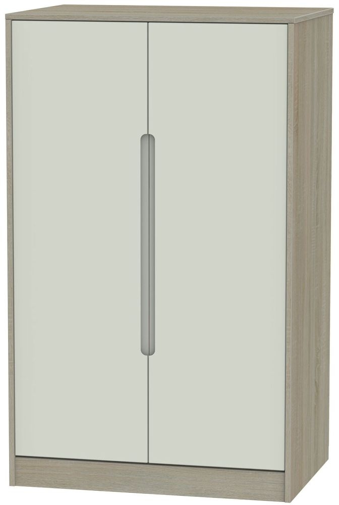 Monaco Kaschmir and Darkolino 2 Door Plain Midi Wardrobe