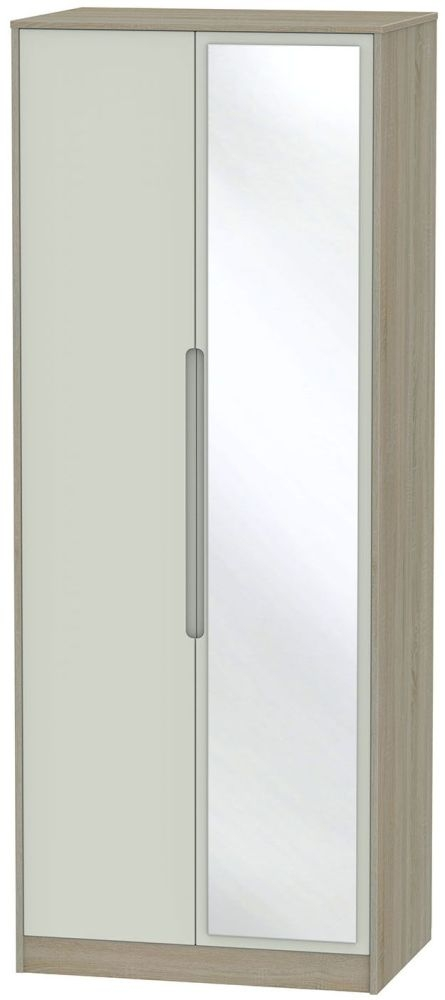 Monaco Kaschmir and Darkolino Wardrobe - Tall 2ft 6in with Mirror