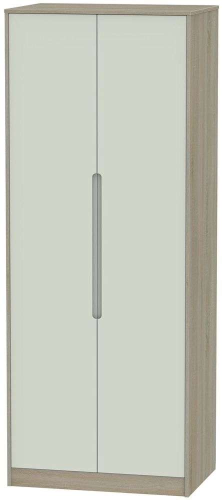 Monaco Kaschmir and Darkolino Wardrobe - Tall 2ft 6in with Double Hanging