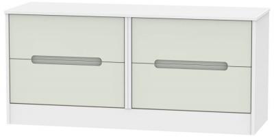 Monaco Kaschmir and White Bed Box - 4 Drawer