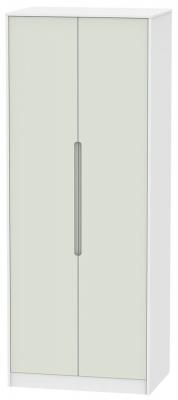 Monaco 2 Door Tall Hanging Wardrobe - Kaschmir and White