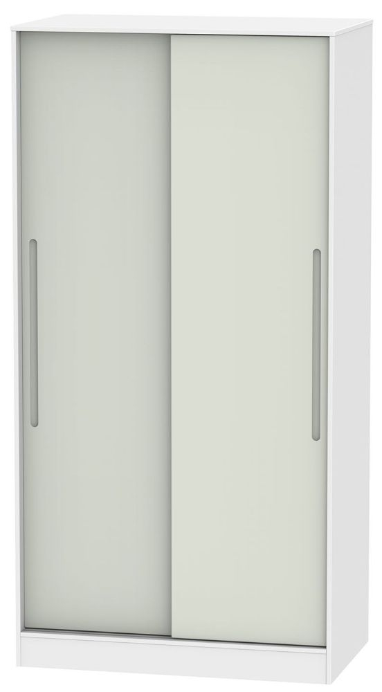 Monaco Kaschmir and White 2 Door Wide Sliding Wardrobe