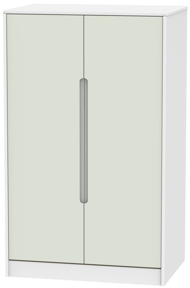 Monaco Kaschmir and White 2 Door Plain Midi Wardrobe