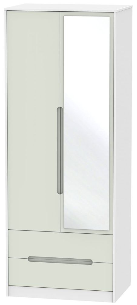 Monaco 2 Door Combi Wardrobe - Kaschmir and White