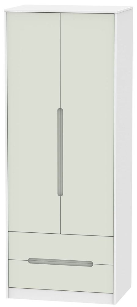 Monaco Kaschmir and White Wardrobe - Tall 2ft 6in with 2 Drawer