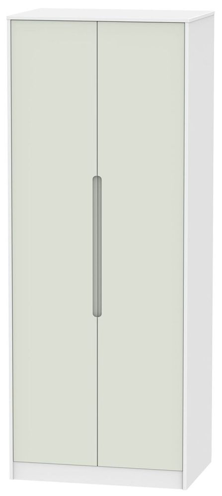 Monaco Kaschmir and White 2 Door Tall Double Hanging Wardrobe