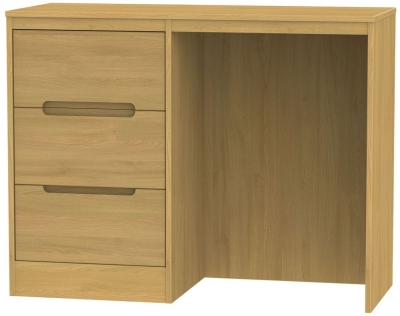 Monaco Modern Oak Dressing Table - Vanity Knee Hole