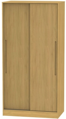 Monaco Modern Oak 2 Door Sliding Wardrobe