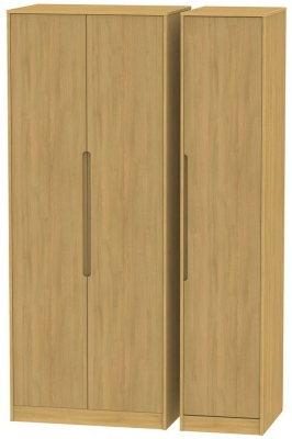 Monaco Modern Oak 3 Door Tall Wardrobe