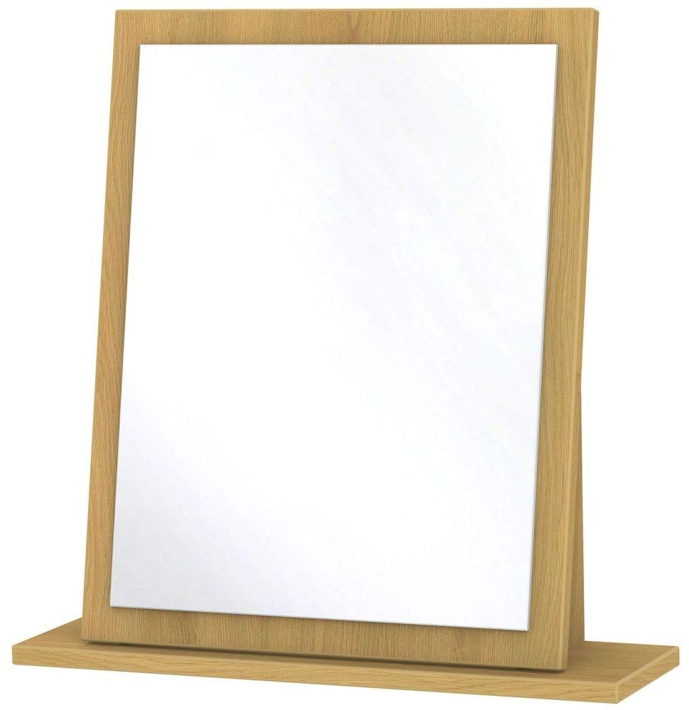 Monaco Modern Oak Mirror - Small