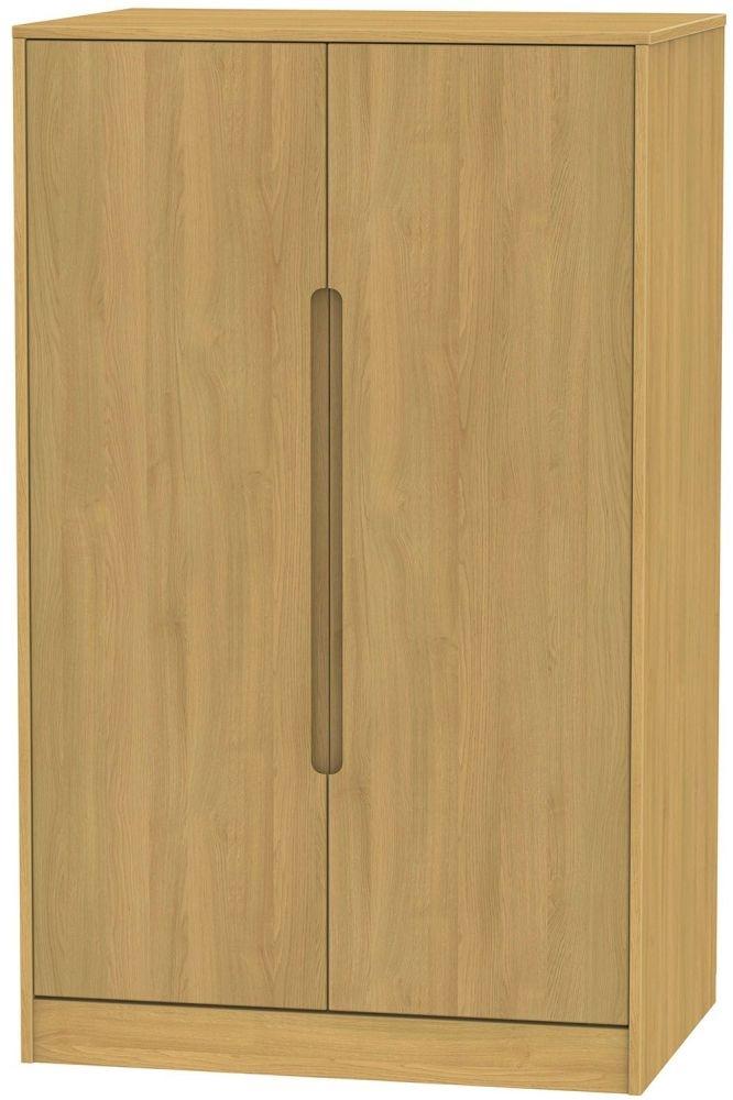 Monaco Modern Oak Wardrobe - 2ft 6in Plain Midi