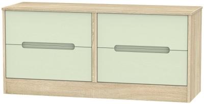 Monaco Mussel and Bardolino Bed Box - 4 Drawer