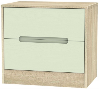 Monaco Mussel and Bardolino Chest of Drawer - 2 Drawer Midi