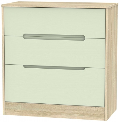 Monaco Mussel and Bardolino Chest of Drawer - 3 Drawer Deep