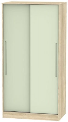 Monaco 2 Door Sliding Wardrobe - Mussel and Bardolino