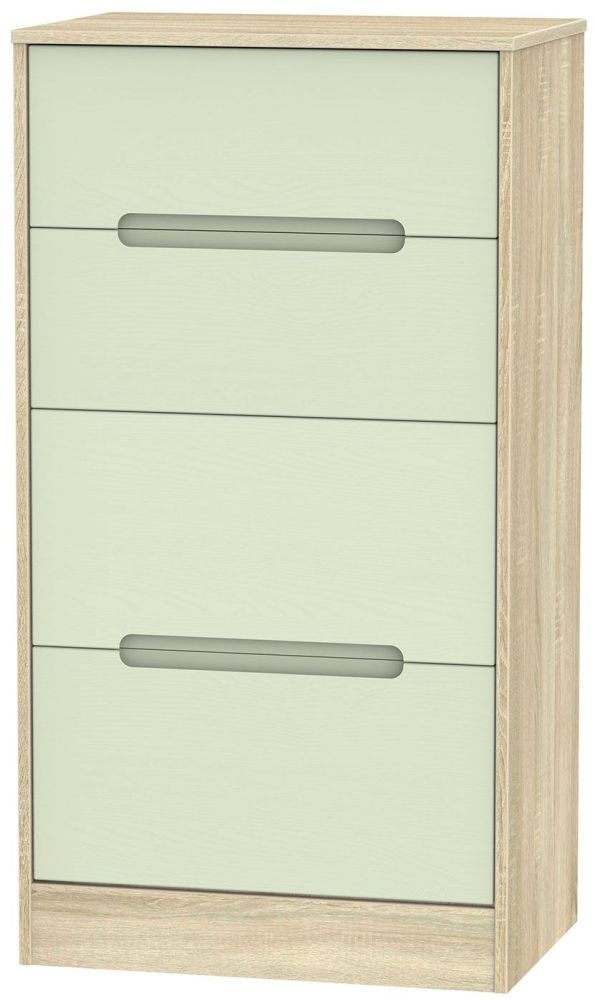 Monaco Mussel and Bardolino Chest of Drawer - 4 Drawer Deep Midi