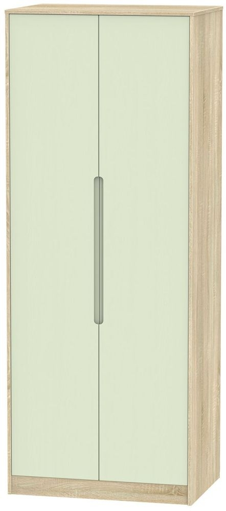 Monaco Mussel and Bardolino Wardrobe - Tall 2ft 6in Plain