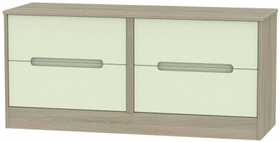 Monaco Mussel and Darkolino Bed Box - 4 Drawer