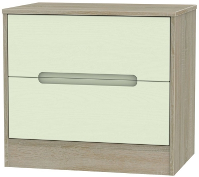 Monaco 2 Drawer Midi Chest - Mussel and Darkolino