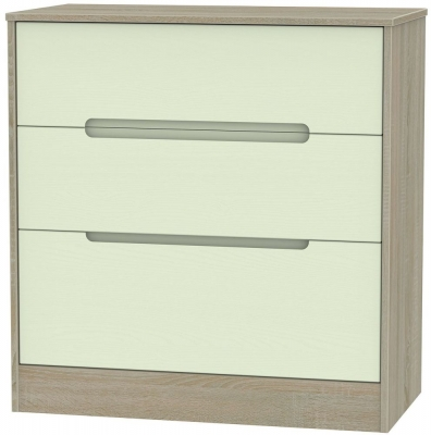 Monaco 3 Drawer Deep Chest - Mussel and Darkolino