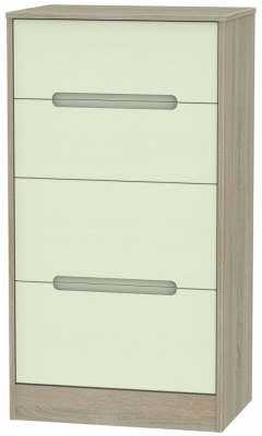 Monaco Mussel and Darkolino Chest of Drawer - 4 Drawer Deep Midi