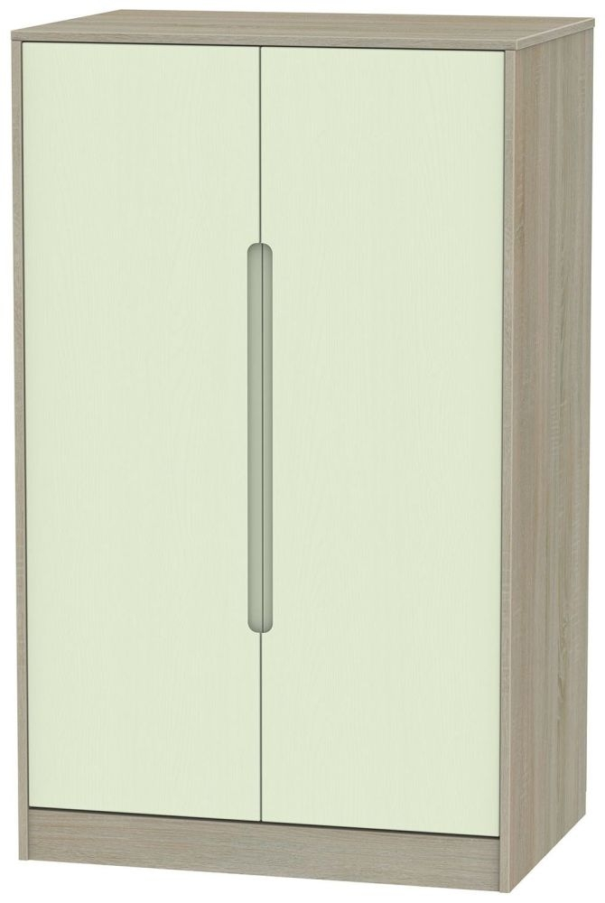 Monaco Mussel and Darkolino Wardrobe - 2ft 6in Plain Midi