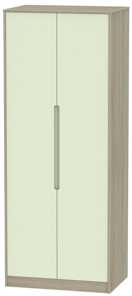 Monaco Mussel and Darkolino Wardrobe - Tall 2ft 6in with Double Hanging