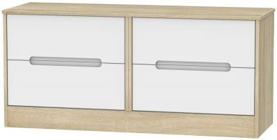 Monaco Bed Box - White Matt and Bardolino