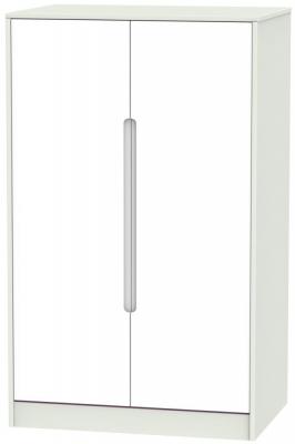 Monaco White Matt and Kaschmir 2 Door Plain Midi Wardrobe